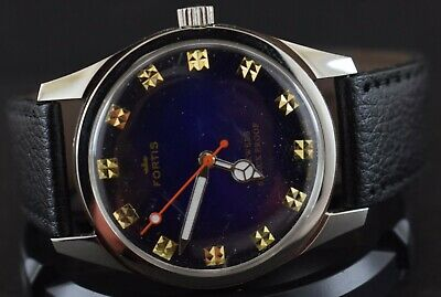 Rare Mechanical Vintage FHF ST96 17J Winding Swiss Men's Wrist Watch s-808