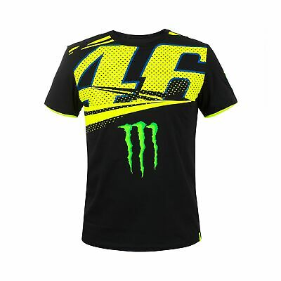 "VR46 Valentino Rossi #46 MotoGP Mens T-Shirt ""Monza"" Monster Energy Design"