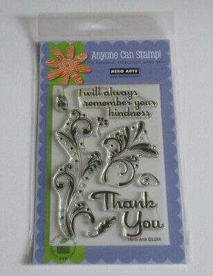 Hero Arts Clear Design Stamp Set - Thank you Flourishes - CL286 - New.