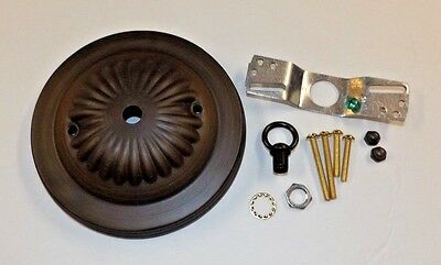"""5"""" Antique Bronze Finish Ceiling Canopy Kit For Light Fixtures New 10801Ajb"""
