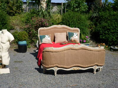 French Louis Xv Revival Antique Corbielle Double Bed Super Carved Frame