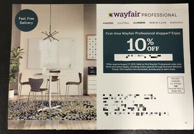 Wayfair Professional 10% Off First Order Code Instant Delivery Exp 8/17/19