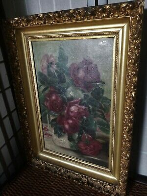 Circa Late 19th Century Oil Still Life on Canvas Painting