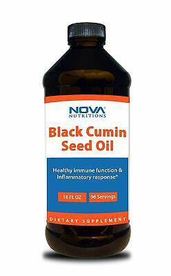 Nova Nutritions Cold Pressed Black Cumin Seed Oil 16 OZ - Non-GMO Black Seed Oil