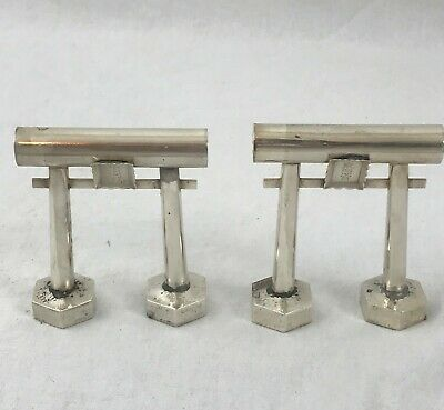 Salt and Pepper Shakers. Japanese Sterling Silver. Gates. Early 20th Century