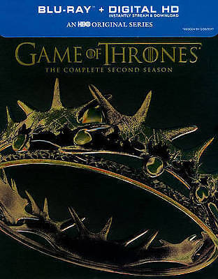 Game of Thrones: The Complete Second Season (Blu-ray Disc, 2014, 5-Disc Set)NEW