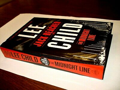 The  MIDNIGHT LINE Lee Child Jack Reacher HARDCOVER HCDJ 1st First Edition