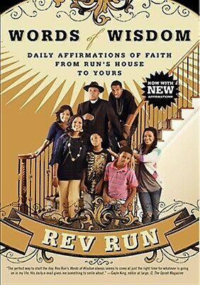 Words of Wisdom: Daily Affirmations of Faith by Rev Run -Paperback