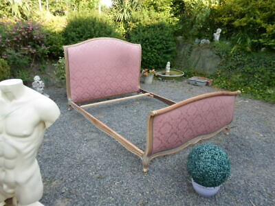French Louis Xv Revival Vintage Double Bed Aged Frame