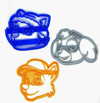 Paw Patrol Cookie Cutters -  6 Characters