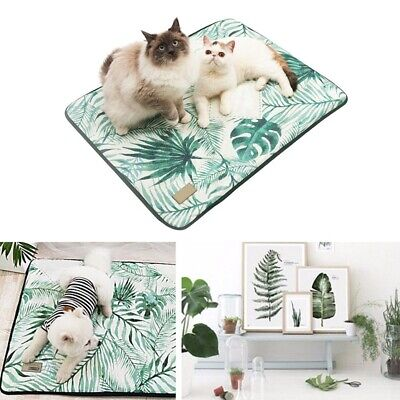 Pet Cooling Mat Cold Ice Silk Pad Non-slip Summer Sleeping Bed for Dog & Cat Mat
