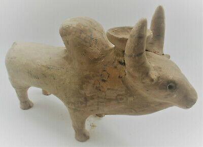Large & Impressive Ancient Indus Valley Harappan Bull Vessel 2200-1800Bce