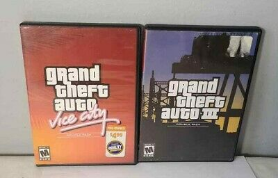 XBOX GRAND THEFT Auto Double Pack: GTA III and Vice City