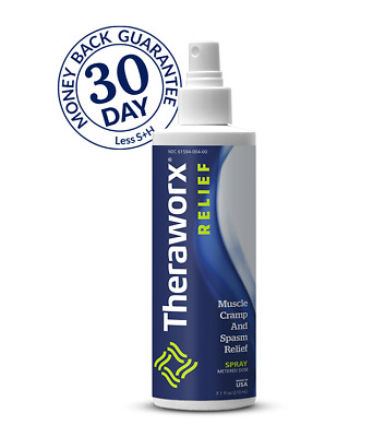 Theraworx Relief 7.1 oz Spray for Leg Cramps, Foot Cramps, and Muscle Soreness
