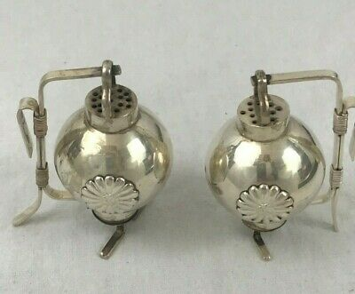 Salt and Pepper Shakers. Japanese 950 Silver. Lantern Form. Early 20th Century