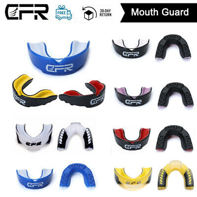 Gel Gum Shield Mouth Guard Boxing MMA Adult/Child Rugby Boxing Teeth Grinding FT