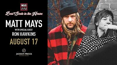 VIP Concert Experience with Matt Mays and Ron Hawkins - August 17, 2019