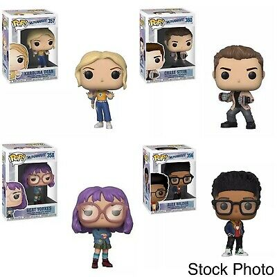 Lot Of 4 New Funko Pop! Marvel Runaways Alex, Chase, Karolina, Gert All New