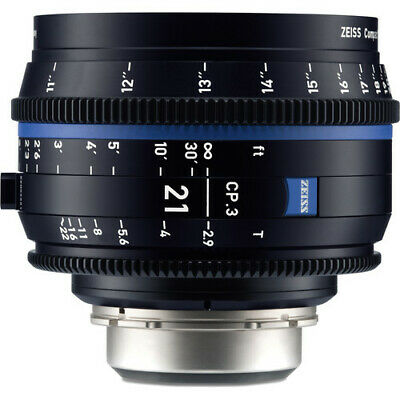 BRAND NEW ZEISS CP.3 21mm T2.9 Compact Prime Lens (Sony E Mount, Feet) BRAND NEW