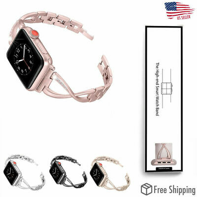 For Apple Watch Series 4 3 2 1 Stainless Steel iWatch Band Strap 38/40 42/44mm X