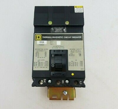 USED Square D FCB34040 40 Amp I-Line Industrial Bolt Down Circuit Breaker 480VAC