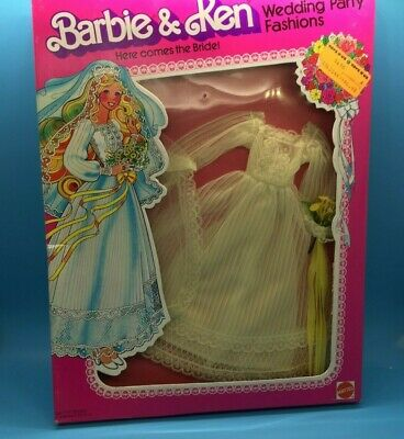 1979 Barbie Doll Wedding Fashions Here comes the Bride Superstar era