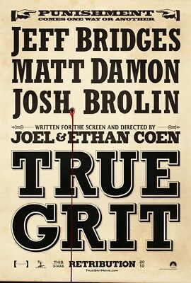 TRUE GRIT MOVIE POSTER 2 Sided ORIGINAL Advance 27x40