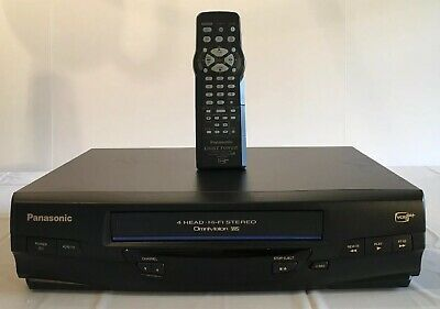Panasonic Vcr Vhs Player Complete With Remote Pv-V4520 Tested