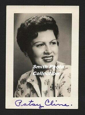 Patsy Cline Hand Signed Authentic Fan Club Photo 3X4 Free Usa Shipping