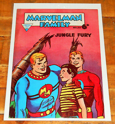 MARVELMAN FAMILY no.30 L Miller 1957 rare FINAL ISSUE KID MIRACLEMAN Alan Moore