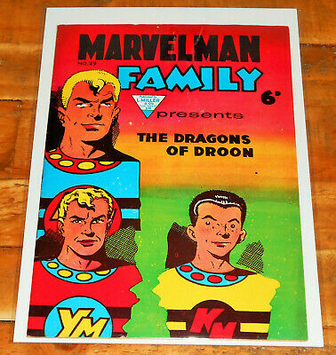"""MARVELMAN FAMILY no.29 L Miller 1957 classic """"Dragons"""" art cover KID MIRACLEMAN"""