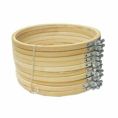 Hot 13-30cm Wooden Cross Stitch Machine Embroidery Hoop Ring Bamboo Sewing KU