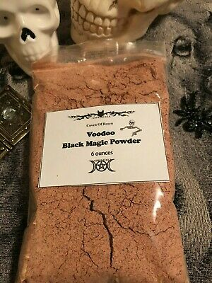 Extra Large Voodoo Black Magic Powder Bag~ Made By Witches Banishing ~6 ounces