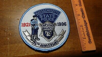 MASSACHUSETTS STATE POLICE 65 Th R  T t  Automobile Plate
