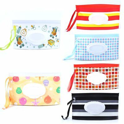 Clean Carrying Case Wet Wipes Bag Home Trendy Pouch Wipes Container Baby New KU
