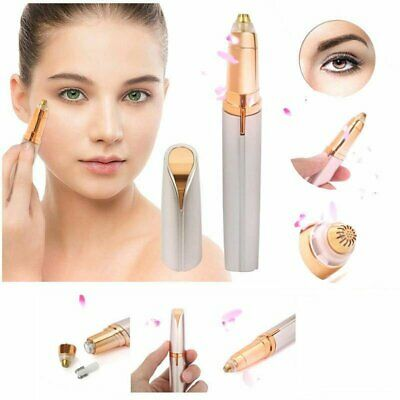Electric Brows Remover Razor Eyebrow Trimmer Facial Hair Removal LED Light KU