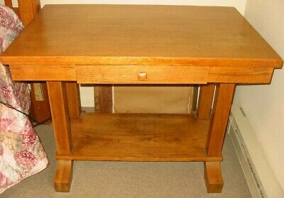 Vintage Antique Wood Library Table Desk Kiel Furniture