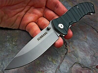 Schrade 9Cr18MoV High Carbon Stainless Drop Point Blade Folding Pocket Knife
