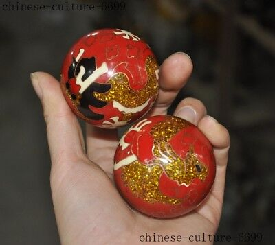 bronze Cloisonne Handball Massage Health Care Ball Health Exersice Stress Relief