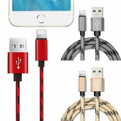 Crazy USB Cable Charger for Apple iPhone X XR XS Max 8 7 6 Plus iPad Nylon KU