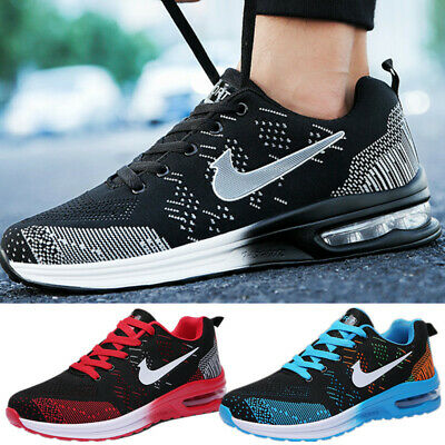 Running Womens Air Cushion Flyknit Sneakers Tennis Shoes Casual Athletic Shoes