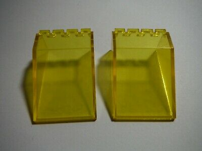 LEGO Lot of 10 Yellow 2x4x3 Slanted Windscreen Pieces
