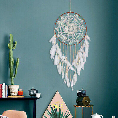 110cm Large Handmade Indian Dream Catcher Net Feather Wall Hanging Ornament