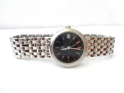 ESQ SWISS by Movado E5198 stainless steel ladies 25mm watch FLAWLESS CRYSTAL WOW
