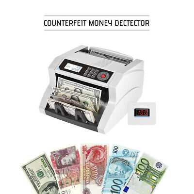Auto/Manual Cash Banknote Bill Money Counter LCD UV MG MT IR DD Detection A1A4