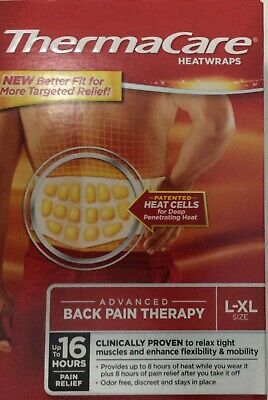 *New Sealed* 20 Thermacare Heatwraps L-Xl Lower Back & Hip Pain Relief Free Ship
