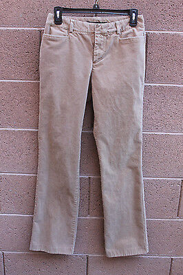 gap corduroy jeans pants trousers brown tan womens size 4 r boot cut