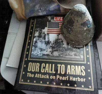 WII Pearl Harbor LOT. EM Tag Booklet. First Aid Kit. Lg Caliber Brass. Fine Book