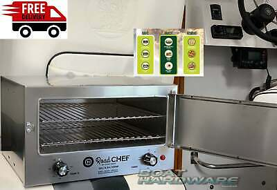 12V OVEN Portable Travel Heat Cook 12 volt Large Road Chef Stainless Steel