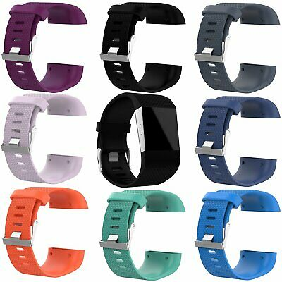 Replacement Silicone Wristband Watch Band Strap Bracelet For Fitbit Surge KU